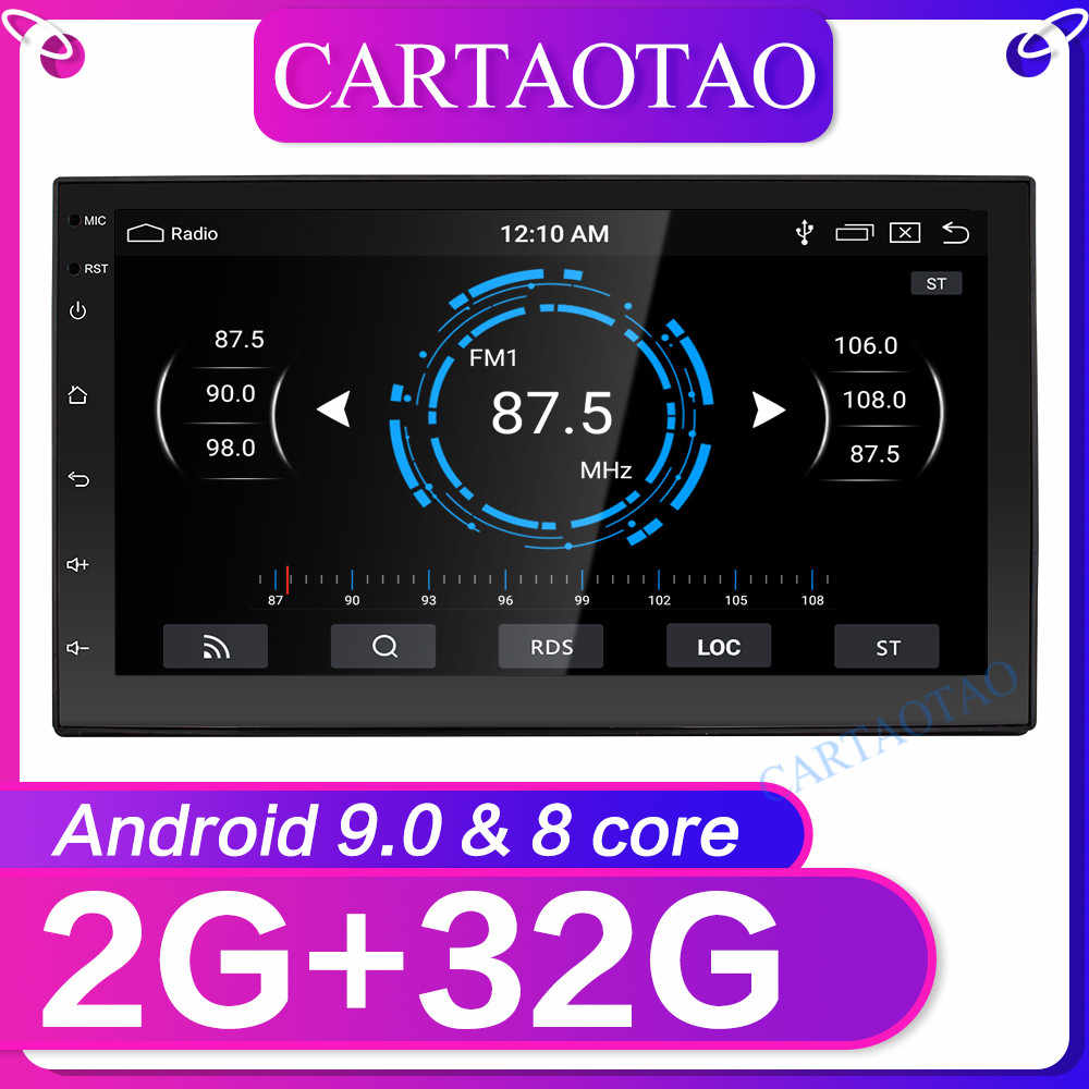 "2 din gps radio car stereo 7 "" Android 9.0 radio Bluetooth Pour modern universal WiFi Car Multimedia voiture radios joueur 2+32g"