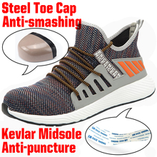 Lightweight Steel Toe Safety Working Shoes With Steel Toe Cap Men Indestructible