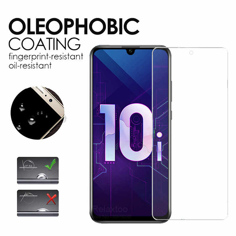 Kaca Pelindung untuk Huawei Kehormatan 10i Kaca Tempered Honor10i Pelindung Layar Lensa Film untuk Huawei Kehormatan 10 Saya I10 Glas 1-2Pcs