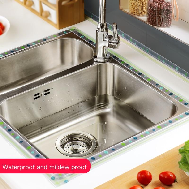 Kitchen Sink Waterproof Sticker Anti-mold Waterproof Tape Bathroom Countertop Toilet Gap Self-adhesive Seam Stickers 3