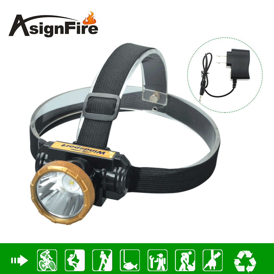 5w Waterproof High Bright LED Headlamp Built-in Lithium Battery Rechargeable Headlight +EU/US/UK Charger Fishing Hunting Lights