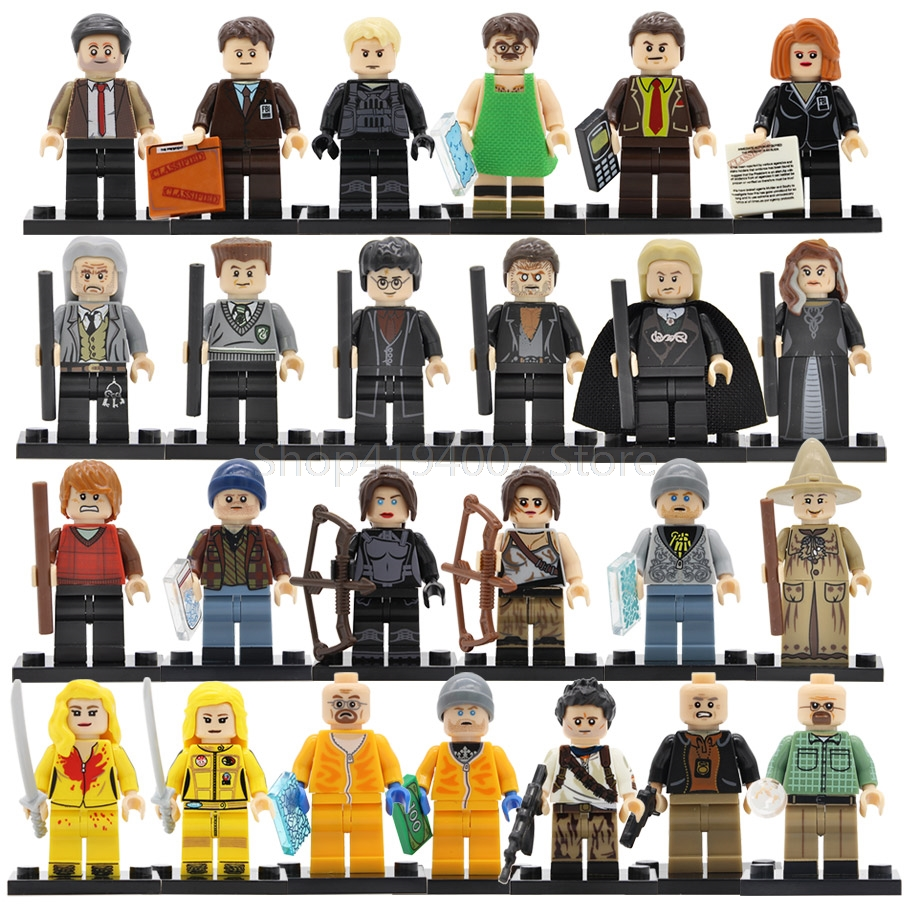 Single Breaking Bad Walter White Jesse TV Movie Figure Kill Bill Vol.1 Uma Thurman Building Blocks Model Brick Toys Legoing