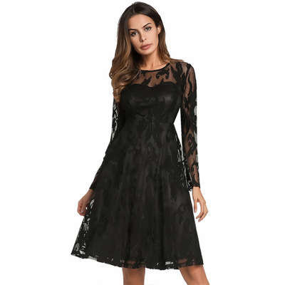 2020 New Spring Summer Dresses Women Elegant Sweet Hallow Out Lace Dress Sexy Party Princess Mini Vestidos Dress LX1606 image