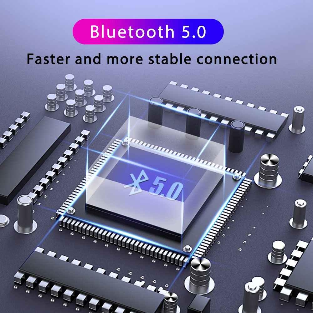 防水インイヤーバッテリー Led ディスプレイワイヤレス Bluetooth 5.0 イヤホン F9 TWS 2000 2600mah のパワーバンクとタッチコントロール低音ヘッドセット