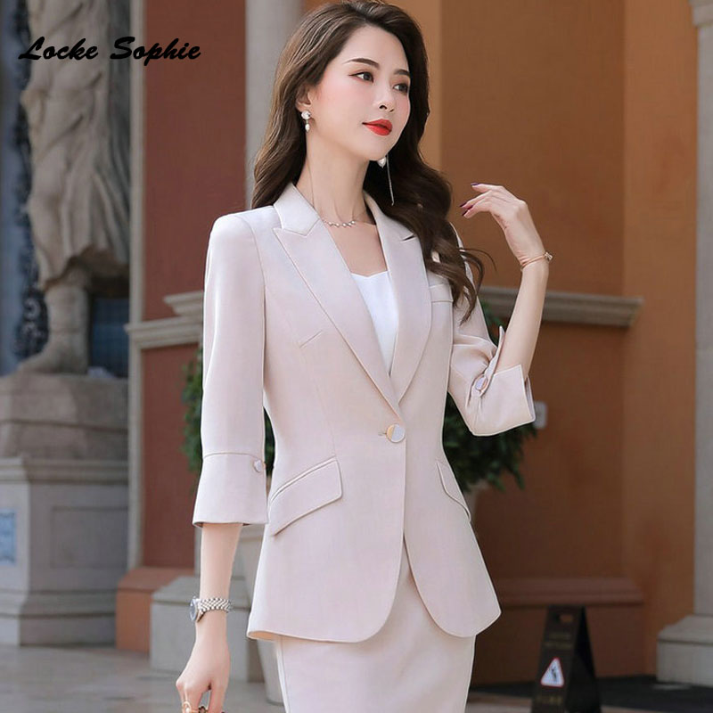 Women's Plus Size Blazers Coats 2020 Spring Fashion Cotton Blend Splicing Slim Fit  Jackets Ladies Skinny Small Blazers Suits