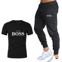 Nova tendência de moda masculina de verão terno personalidade moda impressão esportes de manga curta camiseta + esportes e lazer calças terno