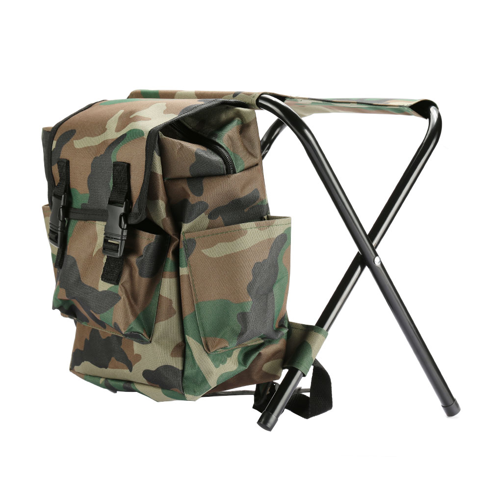 Portable Fishing Chairs Outdoor Travel Folding Backpack Chair Hiking Beach Backpacks Camping Stool Picnic Bag Hunting Climbing|Fishing Chairs| |  - title=