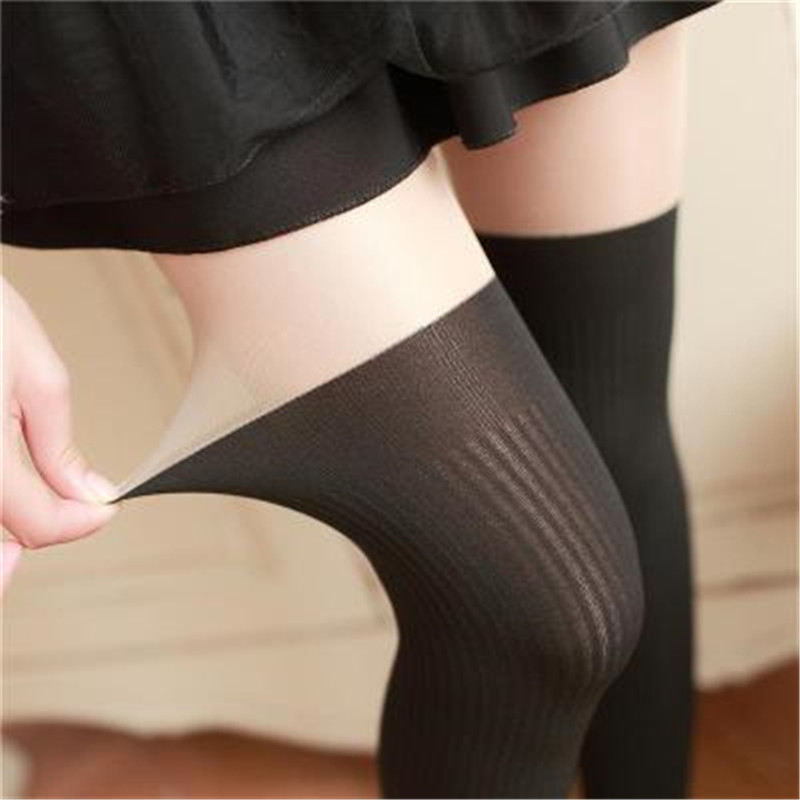 Tights Women Spring Autumn Style Women Girls Cute Black Twisted Knee Stockings Twisted Pantyhose Tights Female Pantys