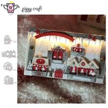 Поросенок ремесленный Металл резки штампов высечки формы рождественский дом записная книжка нож лекало, лезвие трафареты для резки штампов