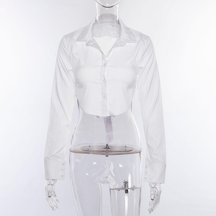 Blusa de Manga Larga con bot/ón de Cuello en V de Encaje de Gran tama/ño para Mujer Occidental