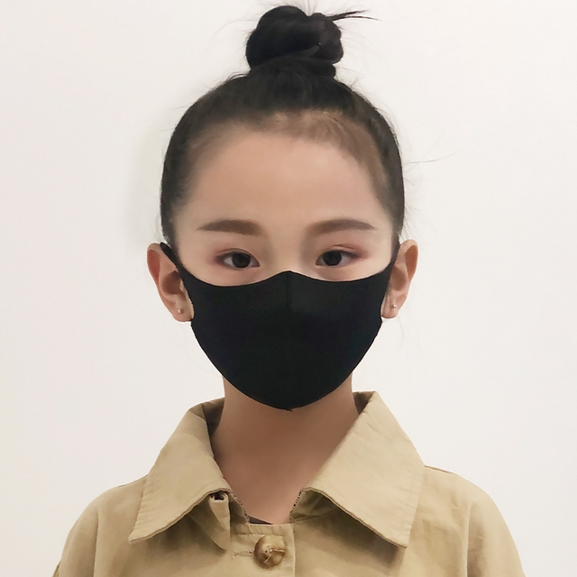 1/3PCS Ice Silk Masks Washable Anti Dust Allergies Mask Travel Reusable Adjustable earloop straps support long-time usage Cotton 4