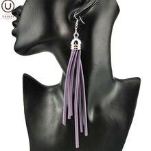 Новые фиолетовые серьги кисточки ukebay Женские Ювелирные изделия