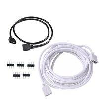Cable de extensión de conector led de 4 pines, Cable con aguja para tira de luz LED SMD 5050 2,5 RGB, 30CM, 1M, 3528 M, 5M