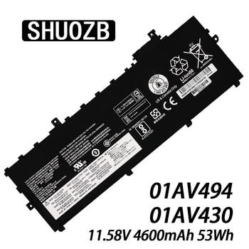 SHUOZB NEW 01AV494 Laptop Battery 01AV430 SB10K97586 for Lenovo ThinkPad X1 Carbon 5th Gen 2017 6th 2018 Series 01AV494 01AV429 lenovo thinkpad usb c dock gen2 for v340 17iwl l390 l480 l580 e490 e495 e590 e595 t490 490s t480 480s t590 x270 x280 x390 x390 yoga p53s p43s x1 carbon 6 7 gen x1 yoga 3 4 gen x1 tablet gen 3