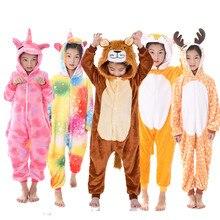 Одежда для девочек; детская пижама с изображением жирафа и единорога; розовая пижама с рисунком животных из мультфильма «Единорог»; комбинезон для мальчиков на Хэллоуин