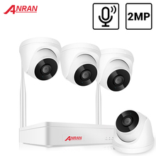 ANRAN H.265 1080P Wireless CCTV System 2MP Indoor Audio IP Camera NVR Recorder Video Security Camera System Surveillance Kit