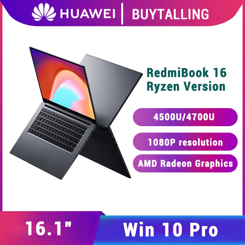 Original Xiaomi RedmiBook 16 Laptop 2020 AMD Ryzen R5-4500U/R7-4700U Graphics Redmi Notebook 16 Windows 10 Pro English