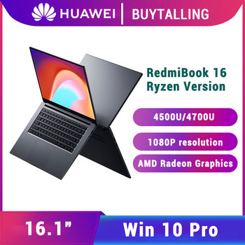 Original Xiaomi RedmiBook 16 Laptop 2020 AMD Ryzen R5-4500U/R7-4700U Graphics Redmi Notebook 16 Windows 10 Pro English Electronics Laptops