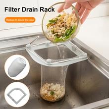 New 50pcs/set  21cm/17cm Triangle Drainage Rack Kitchen Sink Leftovers Filter Hanging Net Drain Basket Kitchen Anti-blocking