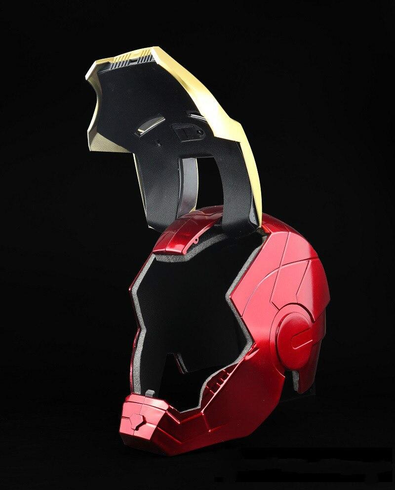 1pc New Avengers Endgame Iron Man Cosplay Helmet Mask Tony Stark PVC Masks Full Face LED Helmet Halloween Party Carnival Props