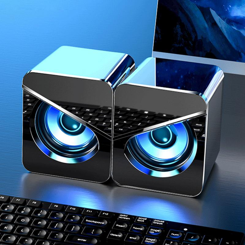 USB Wired Computer Speakers Deep Bass Sound Box Speaker For TV MP3 PC Laptop Powerful Subwoofer Multimedia Loudspeakers