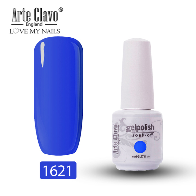Arte Clavo 8ml UV Gel Varnis Color Nail Gel Polish DIY Nail Art Laquer LED Gel Esmalte Glitter Soak Off Semi Permanant Gellak