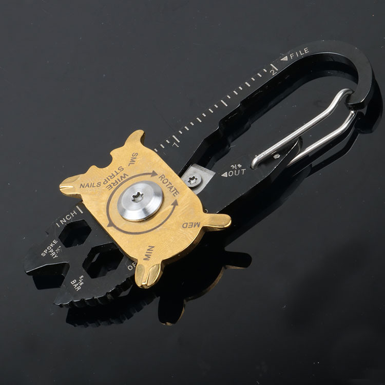 EDC Outdoor Multifunctional Combination Tool Portable Keychain Screwdriver Bottle Opener Tool Multi Gadget