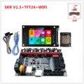 BiQu СКР V1.3 ARM 32-разрядный Процессор материнская плата + TFT 2,4 дюймов сенсорный экран + WI-FI монитор дешевые 3d принтер обновление блоки управления