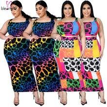 Suits Two-Piece-Set Plus-Size Women Summer 4XL 5XL Vest Crop-Top Matching-Sets Split-Skirt