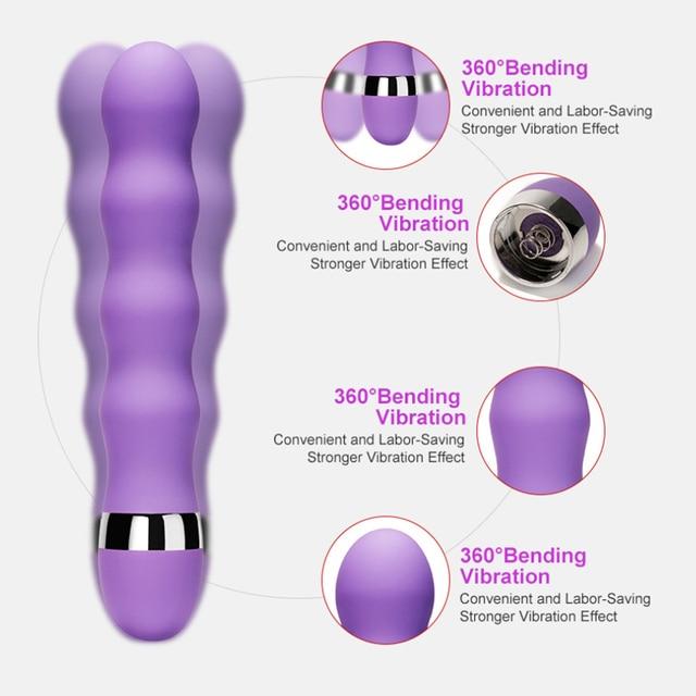 Vibrator Sex Toys For Women AV Stick Dildo Vibrator Massager Female Masturbators G Spot Clitoris Stimulator Anal Butt Plug 2
