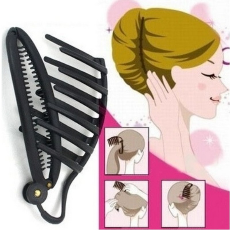 Women DIY Fast Hair Styling Volume Boost Comb Clip French Twist Maker Hair Clip Accessories Tools