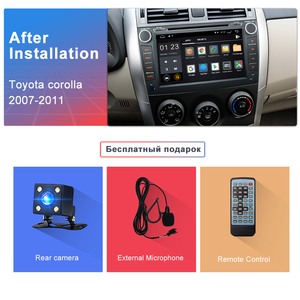Image 5 - Junsun 2G + 32G Android 9.0 Cho TOYOTA COROLLA 2007 2008 2009 2010 2011 Radio Đa Phương Tiện Video người chơi Dẫn Đường GPS 2 DIN DVD