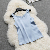 Women Silk Tank Tops Solid 8 Colors 100 Silk Top Simple Design Comfort Tank Top Women Top Casual Basic Clothing New Fashion