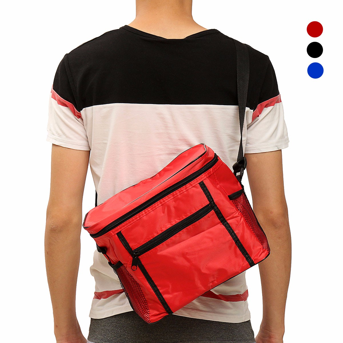 Waterproof Portable Thermal Cooler Insulated Lunch Ice Picnic Tote Bag Outdoor Shoulder Handbag Insulated Storage Bags