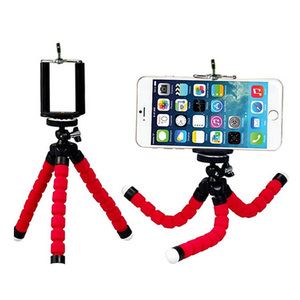 Image 2 - Mini Flexible Sponge Octopus Tripod For iPhone Xiaomi Huawei Smartphone Tripod for Gopro Camera Accessory With Phone Clip Holder