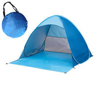 2 3 Person Portable Outdoor Foldable Tent Waterproof Automatic Instant Open Camping Hiking Fishing Travel Tent Anti UV Sun Shade