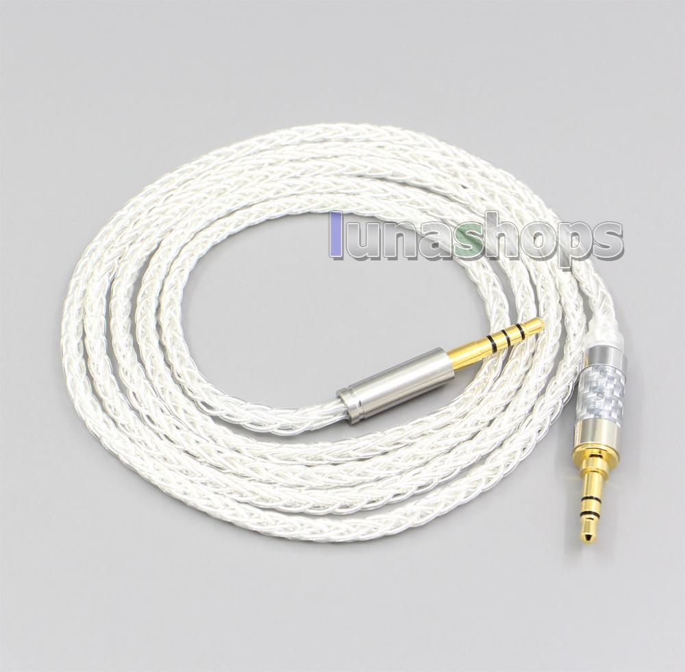 LN006539 8 Core Silver Plated OCC Earphone Cable For <font><b>Sony</b></font> <font><b>mdr</b></font>-1a 1adac 1abt <font><b>100abn</b></font> 100ap xb950bt wh1000x h600a h800 h900n z1000 image
