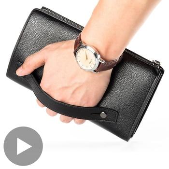 цена на Phone Money Clutch Bag Zipper Long Big for Men Wallet Male Purse Credit Card Coin Holder Partmone Walet Vallet Coughs Penezenka