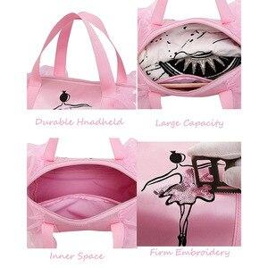 Image 4 - Ballet Dance Bags Pink  Girls Sports Dance Kids Backpack Baby Barrels Package Bag Costume Clothes Shoes Dress  Handbag