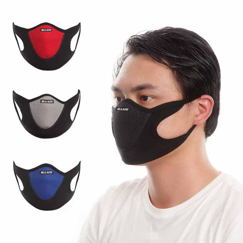 Cotton PM2.5 Black Mouth Mask Anti Dust Mask Activated Carbon Filter Windproof Mouth-muffle Outdoor Sportswear Face Masks