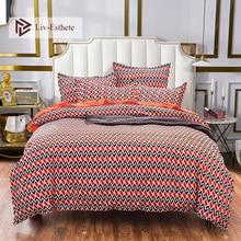 Liv-Esthete Fashion Wave Pattern Bedding Set Comforter Duvet Cover Flat Sheet Pillowcase Double Queen King Bed Linen Wholesale