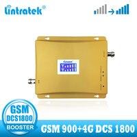 Lintratek 4g 신호 부스터 gsm 듀얼 밴드 셀룰러 모바일 dcs 1800 4g 신호 부스터 리피터 lte 1800mhz gsm 900 증폭기