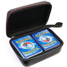 400pcs 수용량 Pokemon TCG 카드 부대 저장 상자 아이들 게임 무역 수집 카드 운반 케이스 아이 선물 베스트셀러 장난감