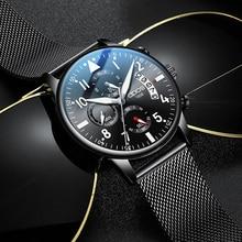 Watches Men 2019 Relogio Masculino Fashion Sport Stainless Steel Case Leather Band Watch Quartz Business Wristwatch Reloj Hombre