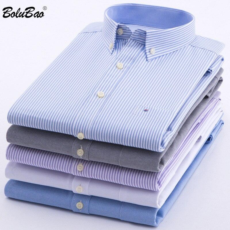 BOLUBAO Brand High Quality Men Shirts Slim Fit Male Fashion Shirt Men's Striped Long Sleeve Street Casual Shirts