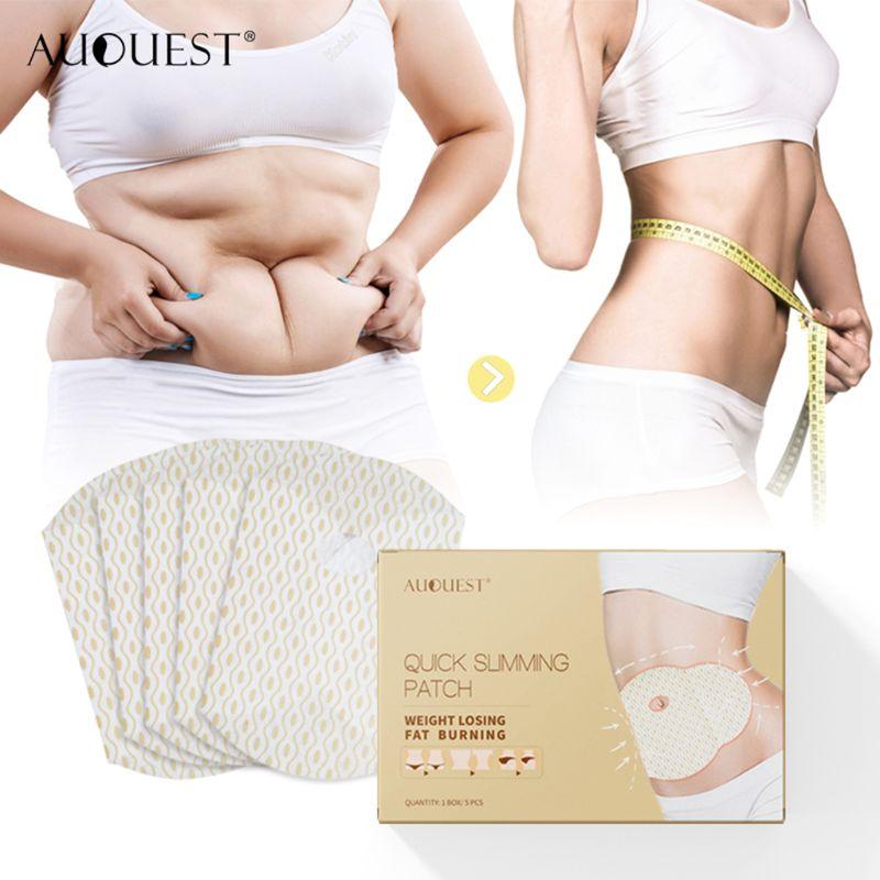 5PCS AuQuest Quick Slimming Patch Health Abdomen Navel Fat Legs Fat Burning Lose Weight Slim Patch M17C