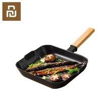 Xiaomi Mijia Yuewei Creatieve Steak Pot Non stick Koekenpan Snelle Warmtegeleiding Koekenpan Houten Handvat Vouwen Voor Keuken