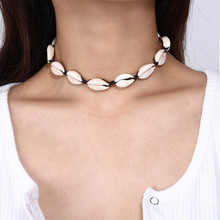 Fashionable beach style shell necklace pearl polychrome rope can choose Bohemian for womens birthday gift