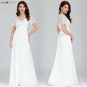 Image 5 - Plusขนาดชุดเจ้าสาวPretty Sequined A Line VคอKurti Elegant Dinner Gowns Vestido Daแม่Da noiva