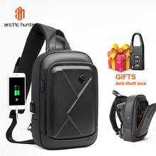 ARCTIC HUNTER Wireless Charging Shoulder Bags Casual Large Capacity Multi function Sling Chest Bag Business Travel Messenger Bag